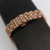 Novo estilo de moda pulseira de aço Inoxidável das mulheres sólida ligação metal pulseira 14mm 16mm 18mm 20mm 22mm rosa de ouro Borboleta fecho
