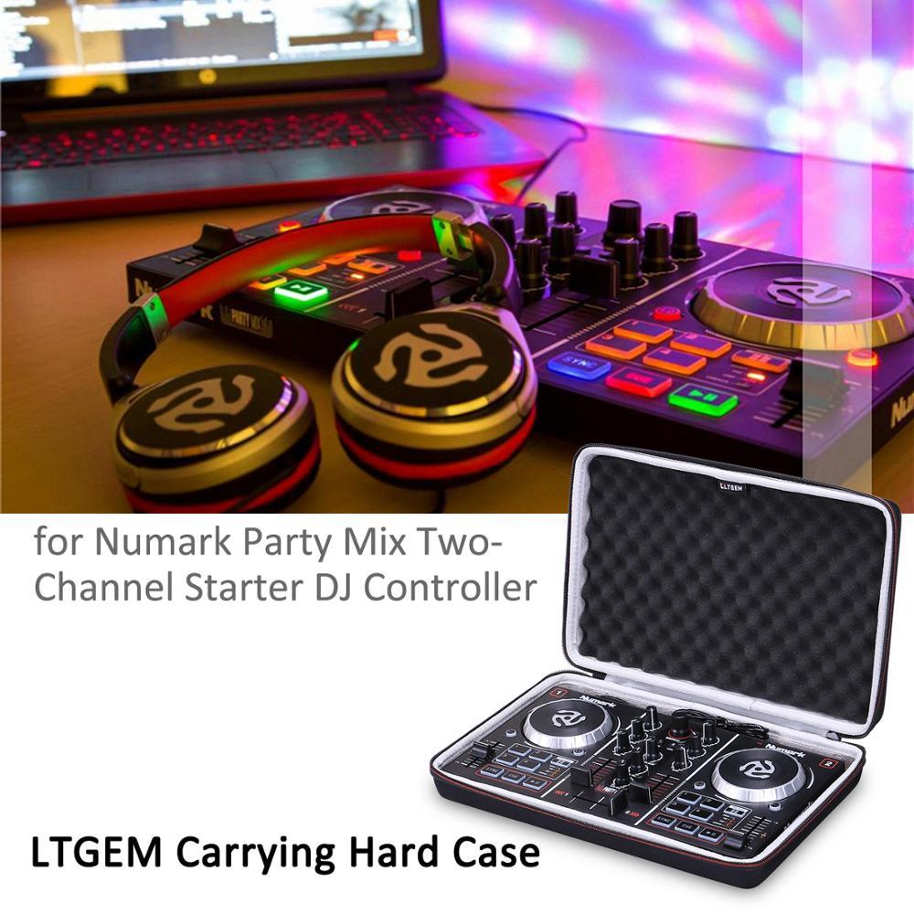 LTGEM EVA Hard Travel Protective Carrying Bag/ Case For Numark Party Mix | Starter DJ Controller