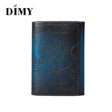 Dimy Bag Accessories Men Wallet Business Card Holder Case Cow Genuine Leather Vintage Letter Coin Purses Credit Hoder