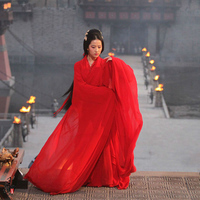 Red Aesthetic Dance Costume Traditional Hanfu Costume Bride Costume TV Play Tong Que Tai The Assassins
