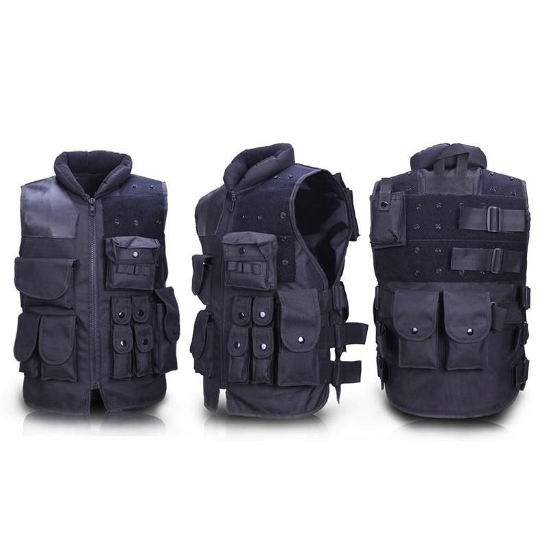 Wholesale Tactical Vest Outdoor CS Field Protective Equipment US Black Riding Security / Security Vest outdoor tactical protective abs helmet w guide black