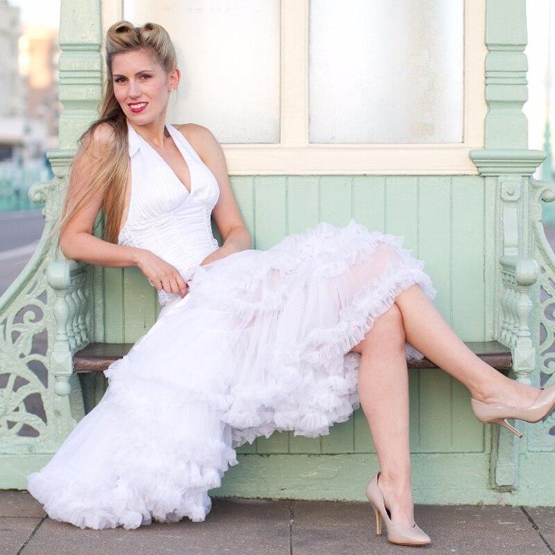 Евро ЗО, проверка, Нижняя юбка для женщин, шифоновая юбка-американка, юбка-пачка для взрослых, бальное платье, для танцев, летняя, 65 см, длинная юбка, сексуальная, однослойная