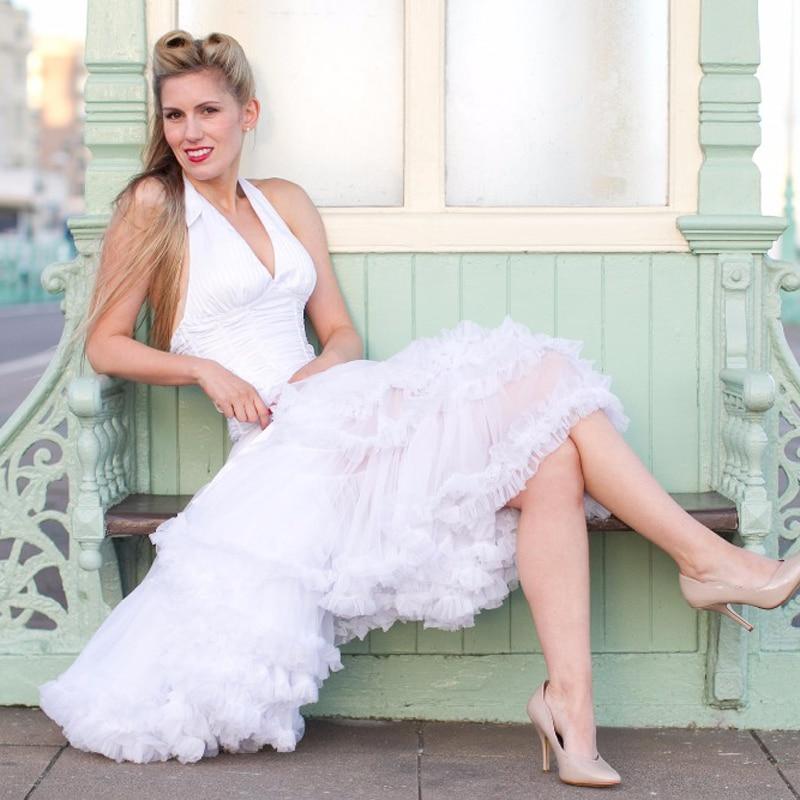 Euro ZO Free Test Petticoat Women Chiffon Pettiskirt Adult Tutu Skirt Ball Gown Dance Summer 65cm Long Skirt Sexy Single Layer in Skirts from Women 39 s Clothing