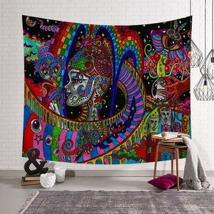 Image 3 - CAMMITEVER Abstract Colorful Painting Large Tapestry Wall Hanging Beach Towel Polyester Thin Blanket Yoga Shawl Mat
