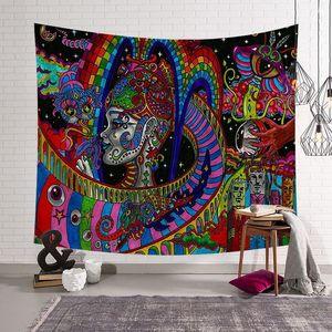 Image 3 - CAMMITEVER, pintura abstracta colorida, tapiz grande para colgar en la pared, toalla de playa, manta fina de poliéster, chal de yoga Mat