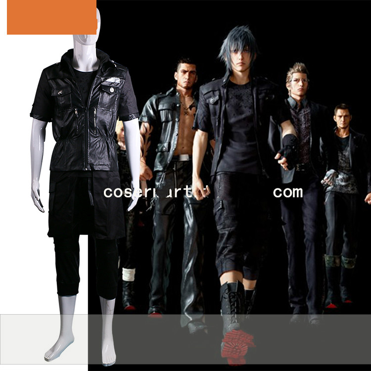 Final Fantasy 15 The King Noctis Cosplay Costume Outfit Cotton Jacket+Pants+Glove Halloween Adult Costumes for Men/Women Custom