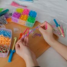 1800pc DIY Toys Rubber Loom Bands Set Kid DIY Bracelet Silic
