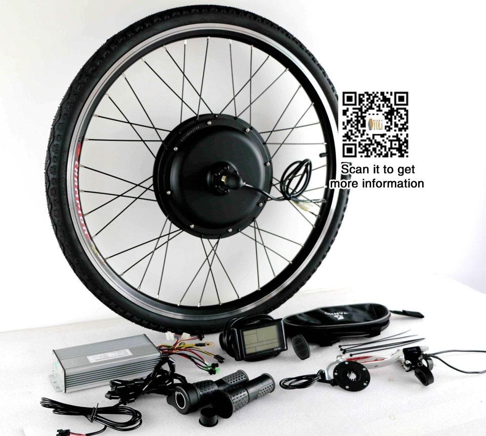 48V 72V 3000w E Bike Kit 90km h max speed with 7speed freewheel