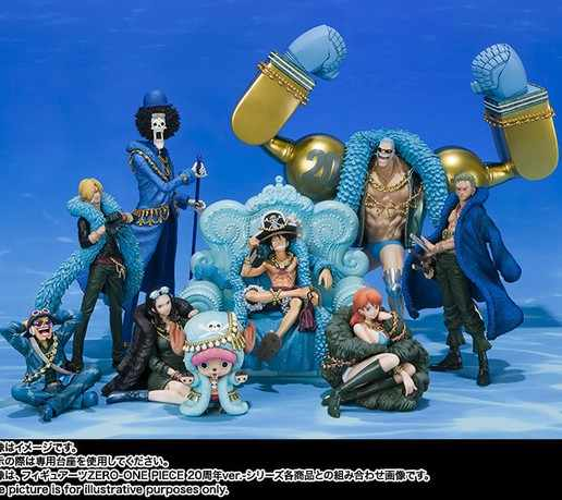 NEW hot 7cm-25cm 20th anniversary One Piece Luffy Sanji Nami Robin Zoro Action figure toys collection doll Christmas with box