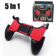 5 ב 1 PUBG משחק ג ויסטיק טלפון L1 R1 Gamepad Moible בקר טריגר משחקים L1R1 Shooter ג ויסטיק עבור IPhone אנדרואיד סלולארי
