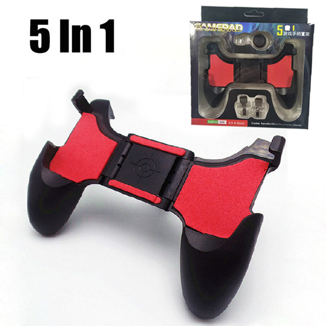 5 In 1 PUBG Game Phone Joystick L1 R1 Gamepad Moible Controller Trigger Gaming L1R1 Shooter Joystick for IPhone Android Cellular
