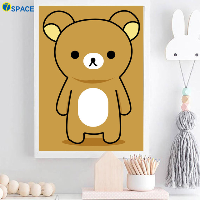 7 Space Bear Wall Art Print Posters And Prints Canvas Painting ...