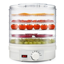 лучшая цена Food Dehydrator Fruit Vegetable Herb Meat Drying Machine Snacks Food Dryer With 5 Trays Us Plug