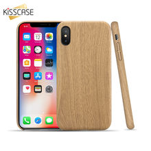32aa4bbed26f0d KISSCASE skrzynki pokrywa dla iPhone 7 7 Plus 6 6 S Plus 5 5S SE Ultra Slim  drewna PU skóra telefon etui na iPhone'a 8 8 Plus X ..