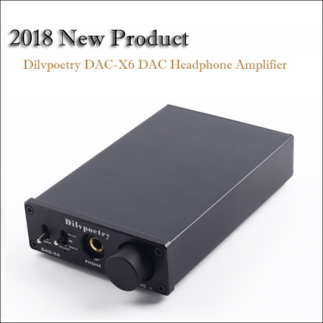 Dilvpoetry Dac-X6 House Dac Amplifier Audio Decoder Moveable Usb Dac Audio Amplifier Headphone Amp Optical Hifi Amplifiers