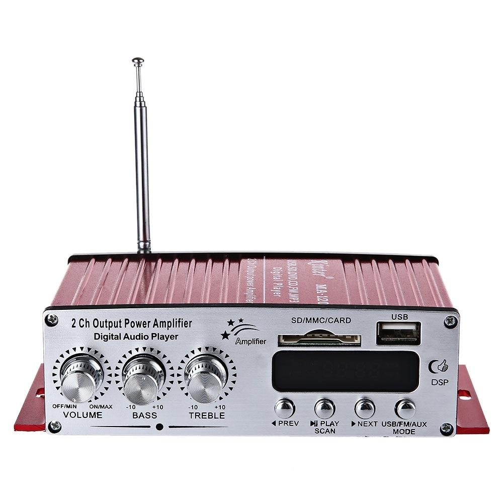 Kinter ма-120 Портативный 12 В HiFi аудио Усилители домашние Динамик Поддержка FM SD USB Вход с 3.5 мм Jack aux автомобиль мотоцикл MP3