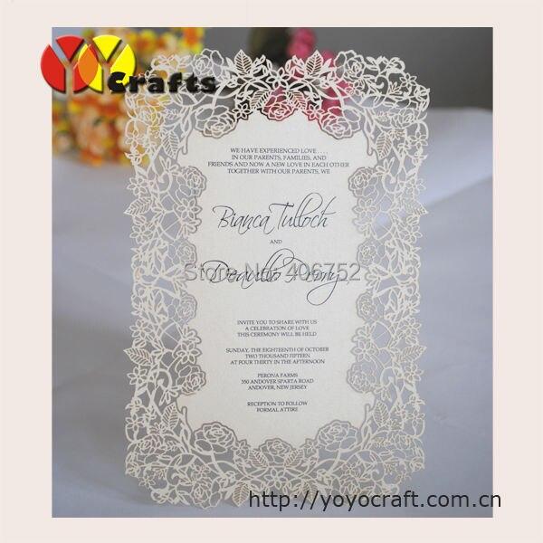 Handmade Menu Cards,laser Cut Flower Design Wedding