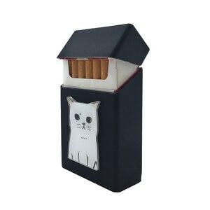 Image 2 - New Cute 3D Badge Silicone Cigarette Box Cigarette Case Cover Smoking Accessories 20 Cigarettes Box Cigarette Holder Tobacco Box