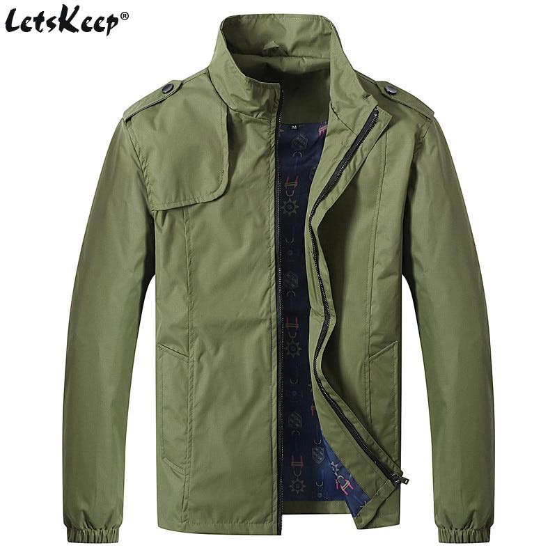 LetsKeep Jachetă subțire de toamnă Jachetă casual bărbați - Imbracaminte barbati