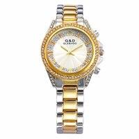XG68 G D GLE VDO Luxury Womens Watches Gold Womem S Bracelet Watches Rhinestone Ladies Dress