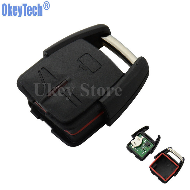 OkeyTech 3 Buttons 433MHz Car Remote Control Key Fob for Opel Vauxhall for Astra Vectra Zafira Replacement Keyless Entry Alarm
