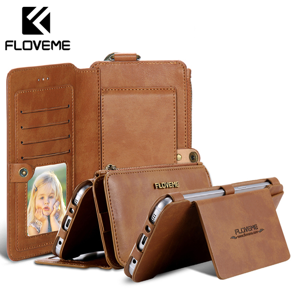 Retro Leather Wallet Case For Samsung Galaxy Note 7/Note5/Note 3/Note 4/ S7/S6/S6 Edge Plus Cover FlipCard Holder Capa Phone Bag wallet