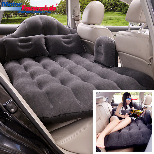 Universal Car Air Inflatable Travel Bed Mattress Back Seat Cover