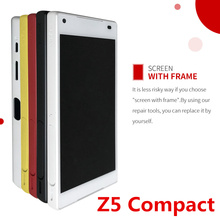 4.6'' LCD For SONY Xperia Z5 Compact LCD Display Z5 MINI E5823 E5803 Touch Screen Digitizer Replacement with Button Frame стоимость