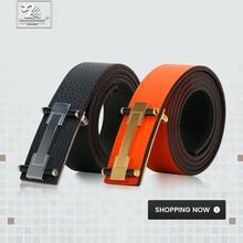 DUJIAOSHOU Pin buckle belt fashion casual pants with simple male DJS9590-007