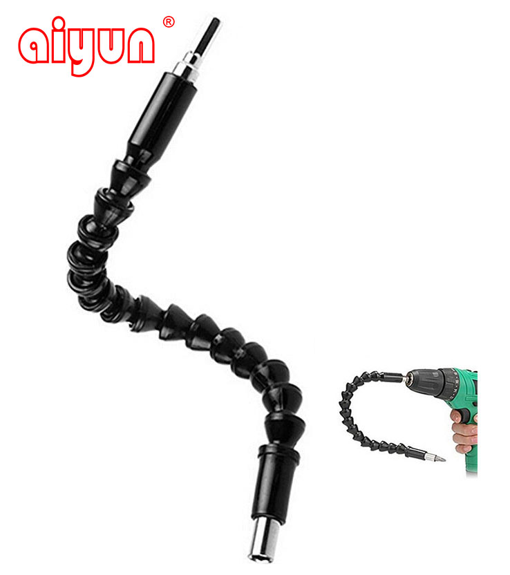 1 4 295mm flexible shaft tool electronics drill screwdriver bit holder connect link multitul hex shank extension snake bit 295mm Electronics Drill Black Flexible Shaft Bits Extention Screwdriver Bit Holder Connect Link power tools