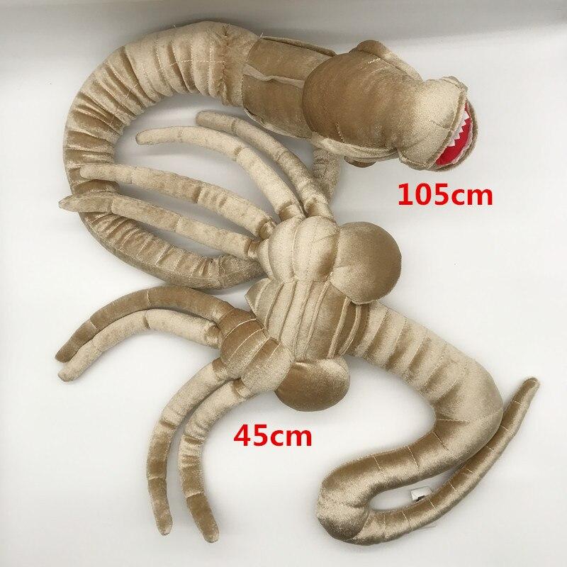 45/105cm Movie Alien Plush Toy Facehugger Chestburster 48 Stuffed Animal Doll Plushes Dolls
