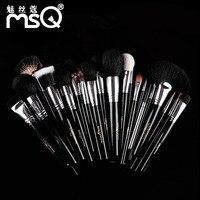 25pcs Makeup Brushes Set Pro Soft Animal Synthetic Hair Cosmetic Tools Kit Blush Foundation Eyeshadow Make