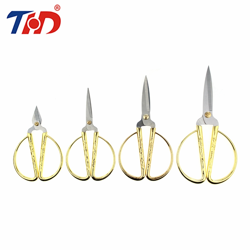 THD 4.9''/6.1''/6.7''/7.5'' Gold Stainless Steel Cutting Scissors Diy Crafts Office Tailor Needlework Scissors for Home Workshop стоимость