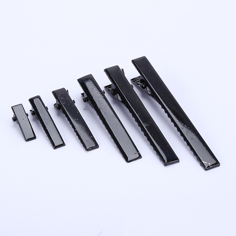 AKWZMLY 10Pcs Women Girls DIY Hair Clip Solid Metal Hairpin Kids Nickel Black White Barrettes Hair Accessories Duck Clip