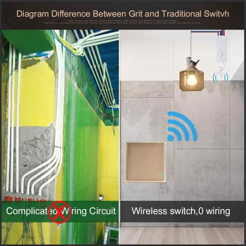 Interrupteur de lumière sans fil étanche interrupteurs de lumière télécommandés-pas de câblage créer rapidement des plafonniers télécommandés ampoule LED