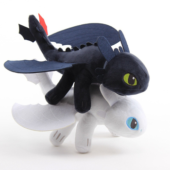 2019 new arrival 10pcs/lot 25cm-30cm Toothless Night Fury Plush How To Train Your Dragon plush toy doll birthday gift T139