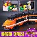 Lepin 21007 série technic o modelo express 10233 horizon horizon trem educacional blocos de construção de tijolos brinquedos 1351 pcs