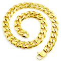 60cm*18mm Fashion Gold Chain Necklace 316L Stainless Steel For Men Women Charm Cool Unisex Jewelry Party Gifts LN501