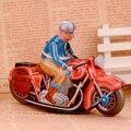 Tinwork Moto Hombres Escaparate de Juguetes Artesanales Colección de Motor Clásico Clockwork Juguetes Adultos Colección de Artesanía