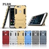 PLBB Case for huawei honor V8 Shockproof Hybrid 2 in 1 Armor Hard PC+TPU+Holder Phone Back Cover For huawei honor V8 Case 5.7