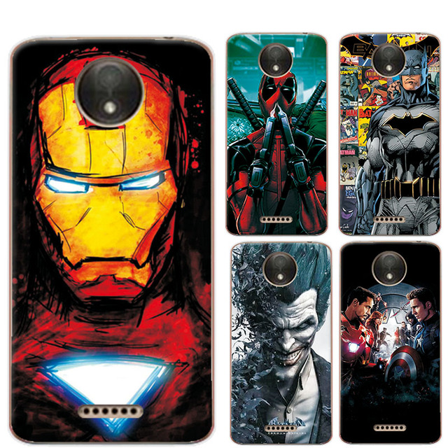 brand new 742c0 aa1b1 US $1.17 20% OFF|For Motorola Moto C Plus Phone Case Coque Charming  Avengers Iron Man Funda For Moto C Plus XT1723 XT1724 Soft Silicone  Cover-in ...