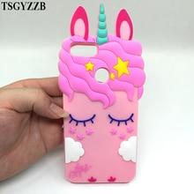 Redmi 4A Case Cute Pink Unicorn Cover For Xiaom Mi A1 5X 4X 3D Cartoon Black Beard Cat Soft Silicon Phone