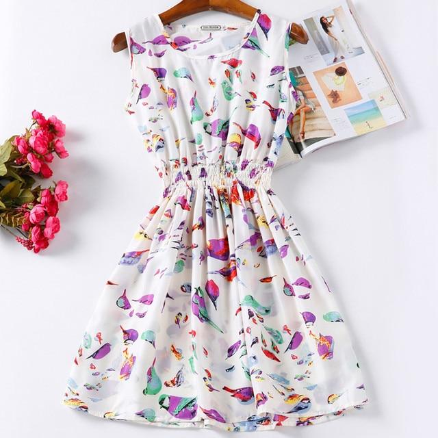 Summer Women Dress Vestidos Print Casual Low Price China Clothes Femininas Roupas Office Ladies Female Bohemian Mini Beach Dress