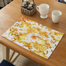 Table Mat for Dining Tableware Pad Plastic Placemats Pads Bowl Coaster Kitchen Accessories Placemat