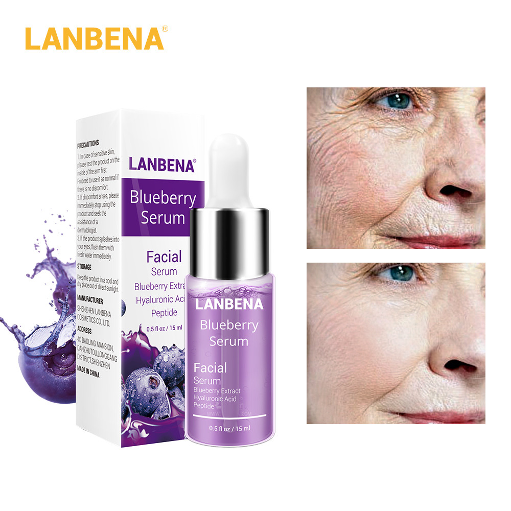 LANBENA Blueberry Hyaluronic Acid Serum Essence Oil Moisturizing Reduces Fine lines Whitening Anti-Aging Anti Wrinkle Skin Care standard schnauzer