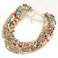 Мода Многоцветный Многослойные Богемия Бусы Choker Ожерелье Женщины Ручной Работы Ожерелье и Подвески Ювелирные Изделия Для Подарка Партии