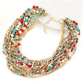 Fashion Multicolor Multi Layer Bohemia Beads Choker Necklace Women Handmade Necklace & Pendants Jewelry For Gift Party