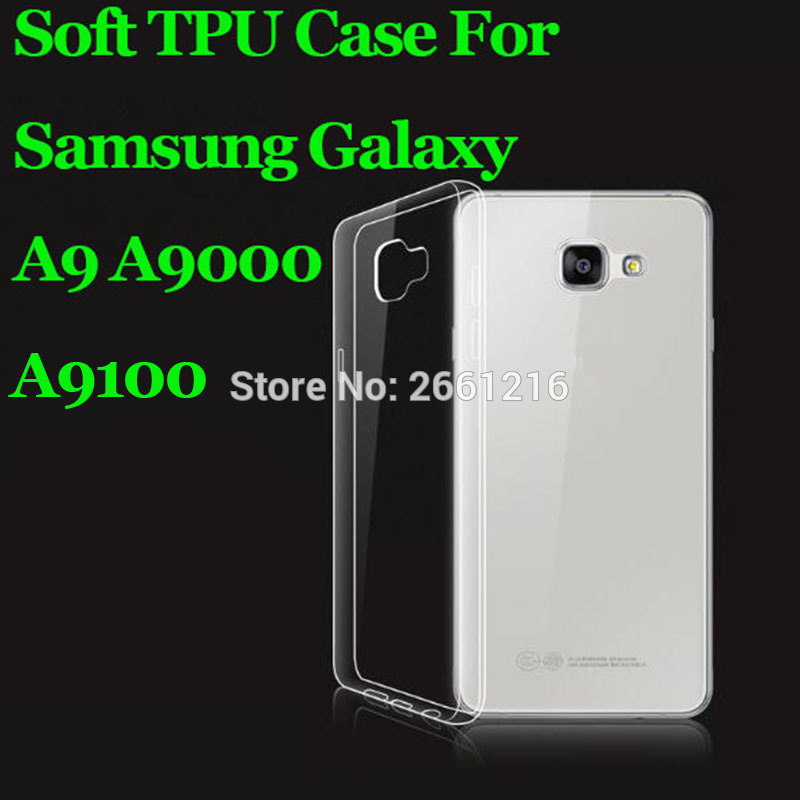 For <font><b>Samsung</b></font> A9 Soft TPU Silicon Gel Transparent Case Back Housing Cover For <font><b>Samsung</b></font> Galaxy A9 (2016) A9000 / <font><b>A9100</b></font> 6.0