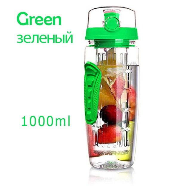 HTB1qEaDcvc3T1VjSZPfq6AWHXXav 1L Portable water bottle Tritan Drinkware Bottle Fruit Infuser Bottle Juice Shaker travel Sport Water Bottle detox bottle