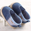 2017 Spring Autumn Baby Slip-on Fashion Denim Blue Loafers Soft Sole Indoor Baby Slippers